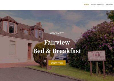 Fairview B&B – Web Design Project